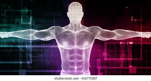 Bioscience or Biology Science as Biological Concept 3D Illustration Render