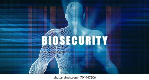 Biosecurity as a Futuristic Concept Abstract Background 3D Illustration Render