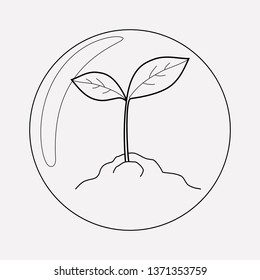 Biosphere icon line element.  illustration of biosphere icon line isolated on clean background for your web mobile app logo design.