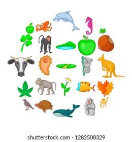Biosphere icons set. Cartoon set of 25 biosphere icons for web isolated on white background