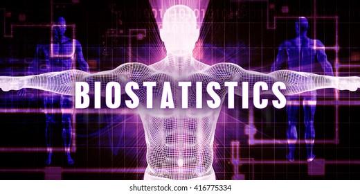 Biostatistics as a Digital Technology Medical Concept Art 3D Illustration Render