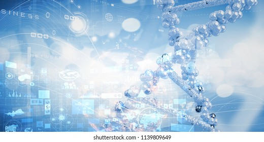 Biotechnology background concept