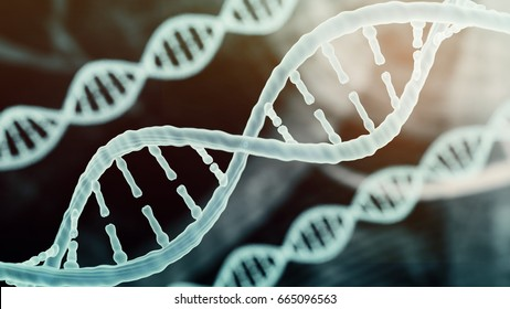 biotechnology bioinformatics DNA chromosome helix strand biotechnology concept of DNA and chromosome medical background   3D render