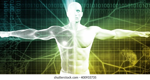 Biotechnology or Biology Technology Biotech as Concept 3D Illustration