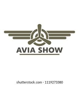 Biplane flying plane logo. Flat illustration of Biplane flying plane logo for web design isolated on white background