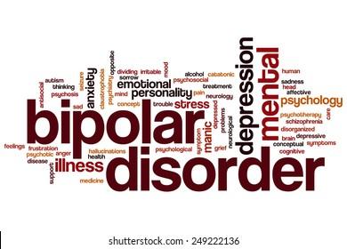 Bipolar disorder word cloud concept