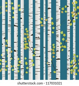 Birch-wood repeating pattern. Abstract art.