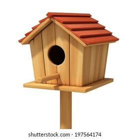 bird house 3d illustration