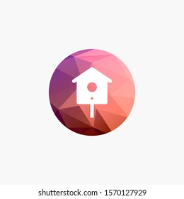 bird house icon to be used for web print and mobile application