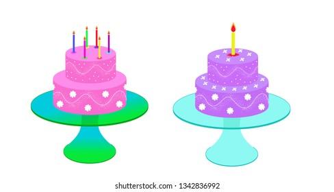 birhtday cakes illustration