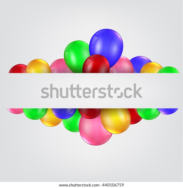 Birthday balloons with blank sign