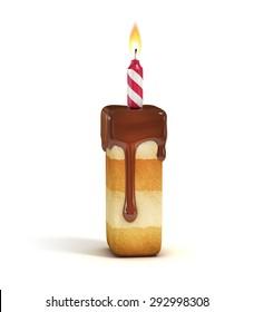 Birthday cake font letter I