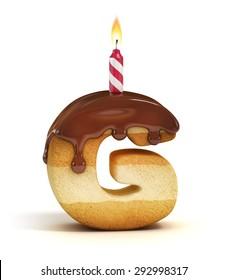 Birthday cake font letter G