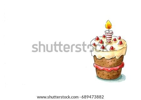 Birthday Cake Frame Stock Illustration 689473882 Shutterstock