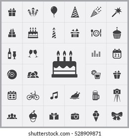 birthday cake icon. birthday icons universal set for web and mobile