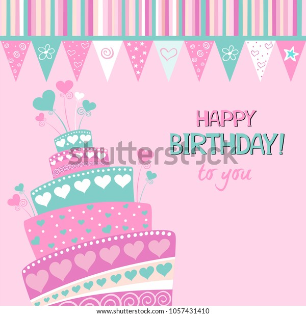 Awe Inspiring Birthday Card Happy Birthday You Celebration Stock Illustration Funny Birthday Cards Online Necthendildamsfinfo