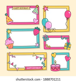 Birthday Collage Frame Collection Flat Design_8