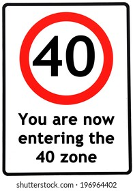 picture regarding 40th Birthday Signs Printable titled 40th Birthday Photos, Inventory Pics Vectors Shutterstock