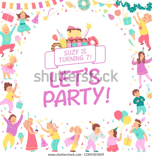 Birthday Party Invitation Design Template Bd Stock Illustration ...