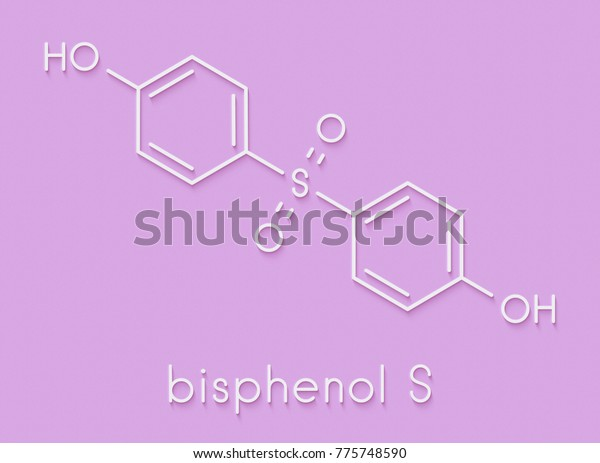 Bisphenol S Bps Plasticizer Molecule Used Stock Illustration