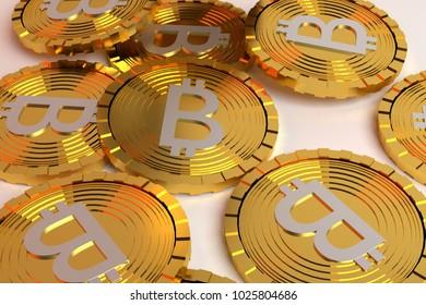 bit coins background
