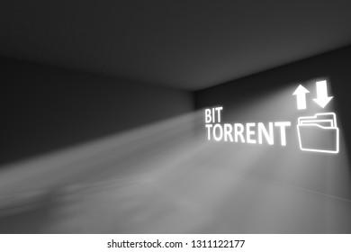 BIT TORRENT  rays volume light concept 3d illustration