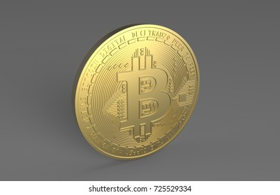 Bitcoin 3d render