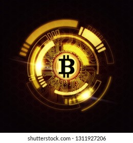 Bitcoin abstract background ( crypto , currency , blockchain )