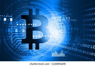 bitcoin background. 3d illustration