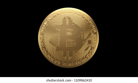 Bitcoin Cryptocurrency 3D Rendering