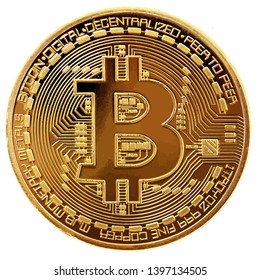 bitcoin cryptocurrency coin commerce virtual internet bit digital illustration