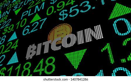 Bitcoin Cryptocurrency Digital Blockchain Money Stock Market Business Company Trading 3d Illustration