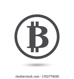 Bitcoin icon isolated on a white background. illustration.Virtual money.Cryptocurrency