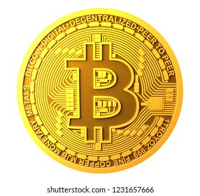 Bitcoin Isolated on white background
