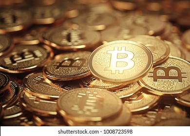Bitcoin on the phone. new crypto currency concept