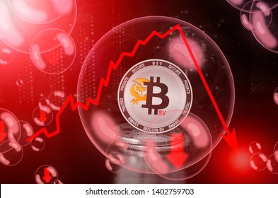 Bitcoin SV (BSV) in a bubble. Risks and dangers of investing to bitcoin sv. Collapse of the exchange rate. Unstable concept