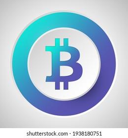 Bitcoin symbol. Gradient. Illustration. USDT logo. Cryptocurrency.