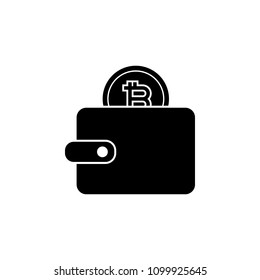 bitcoin in wallet icon. Element of Crypto currency icon for mobile concept and web apps. Detailed bitcoin in wallet icon can be used for web and mobile. Premium icon on white background