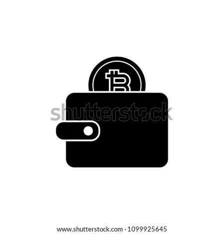 Bitcoin In Wallet Icon Element Of Crypto Currency For Mobile Concept And Web Apps