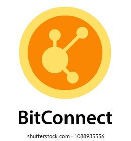 Bitconnect icon. Flat illustration of bitconnect icon for web