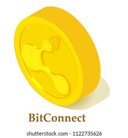 Bitconnect icon. Isometric illustration of bitconnect icon for web