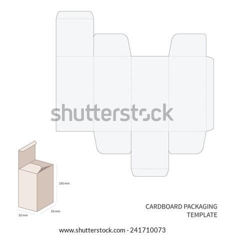 bitmap cardboard packaging template cutting bending stock