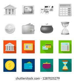 bitmap design of bank and money icon. Set of bank and bill bitmap icon for stock.