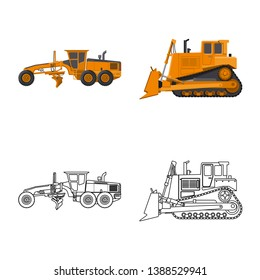 bitmap design of build and construction icon. Set of build and machinery stock bitmap illustration.