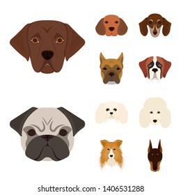 bitmap design of cute and puppy icon. Set of cute and animal stock symbol for web.