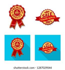 bitmap design of emblem and badge sign. Set of emblem and sticker stock bitmap illustration.