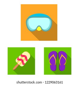 bitmap design of equipment and swimming sign. Set of equipment and activity bitmap icon for stock.