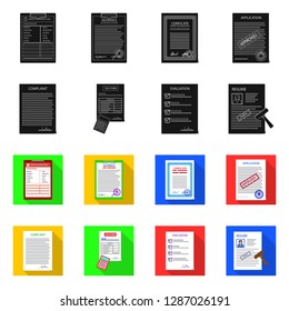 bitmap design of form and document icon. Set of form and mark stock bitmap illustration.