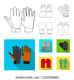bitmap design of glove and winter icon. Set of glove and equipment bitmap icon for stock.
