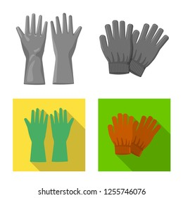 bitmap design of glove and winter symbol. Set of glove and equipment bitmap icon for stock.